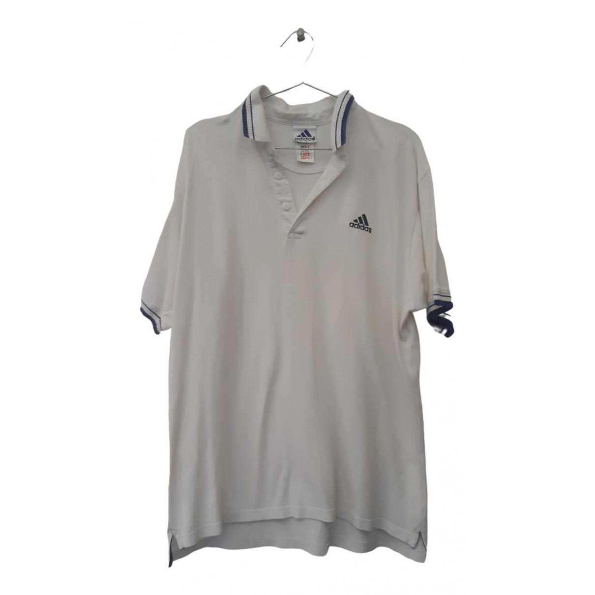 Adidas - Polos   pour homme en coton - blanc