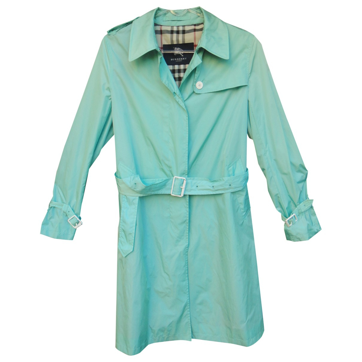 Burberry - Trench   pour femme - turquoise