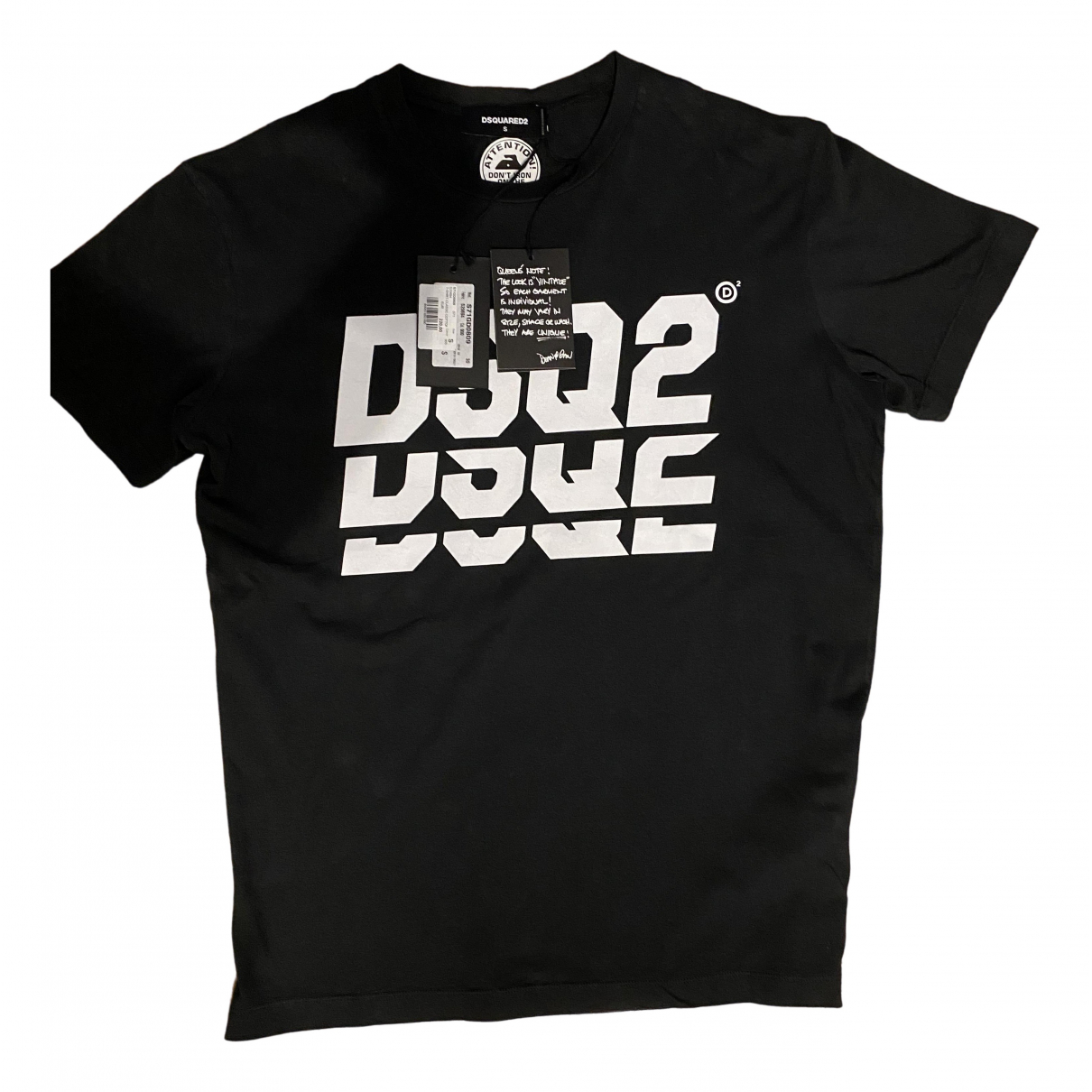 Dsquared2 \N Black Cotton T-shirts for Men S International