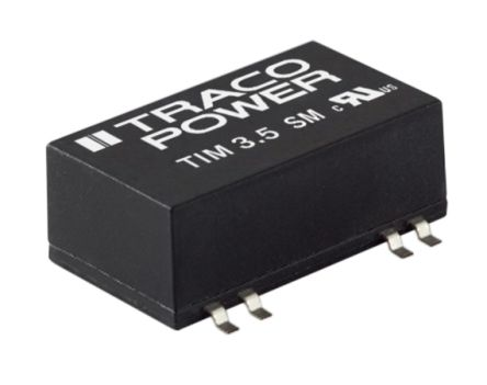 TRACOPOWER TIM 3.5 3.5W Isolated DC-DC Converter Surface Mount, Voltage in 9 → 18 V dc, Voltage out 24V dc