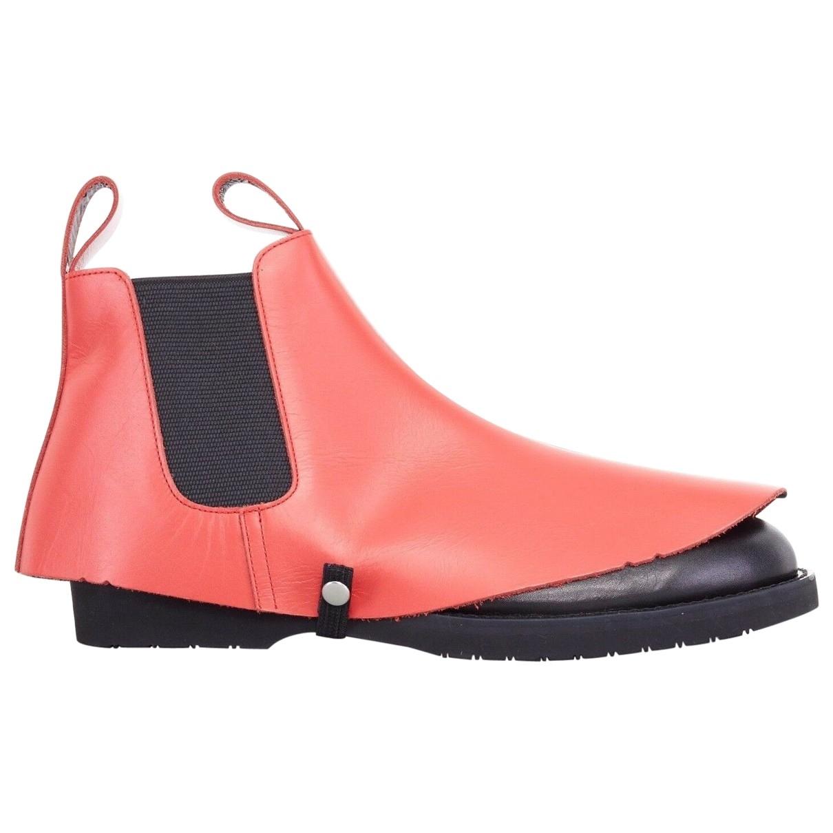 Comme Des Garcons - Boots   pour femme en cuir - rouge