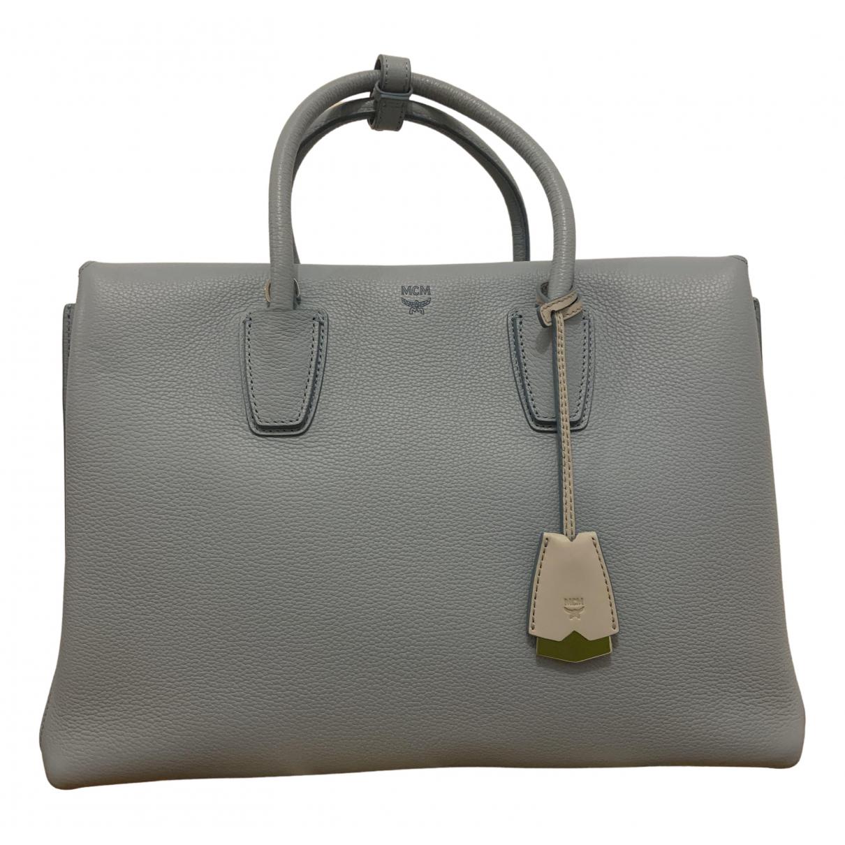 Mcm Milla Handtasche in  Blau Leder