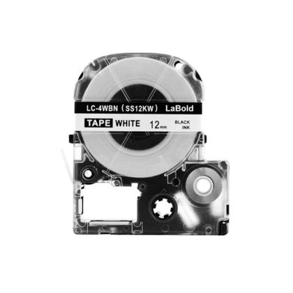 Epson LK-4WBN Compatible LK ruban d'étiquettes, 12mm(1/2''), noir sur blanc
