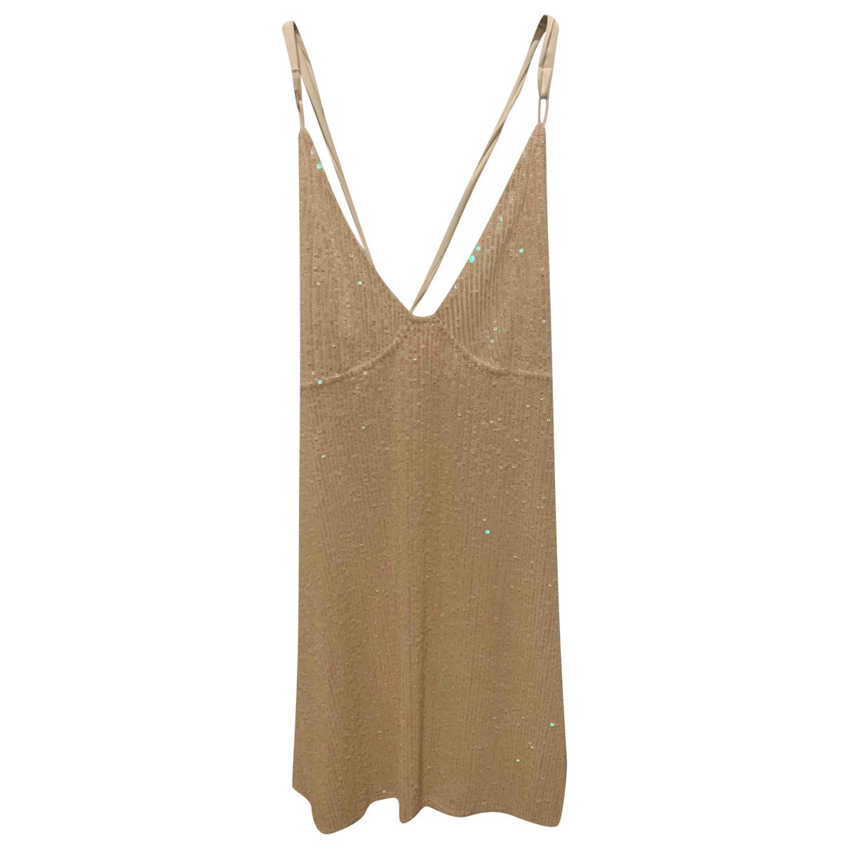 Free People \N White Glitter dress for Women XS International