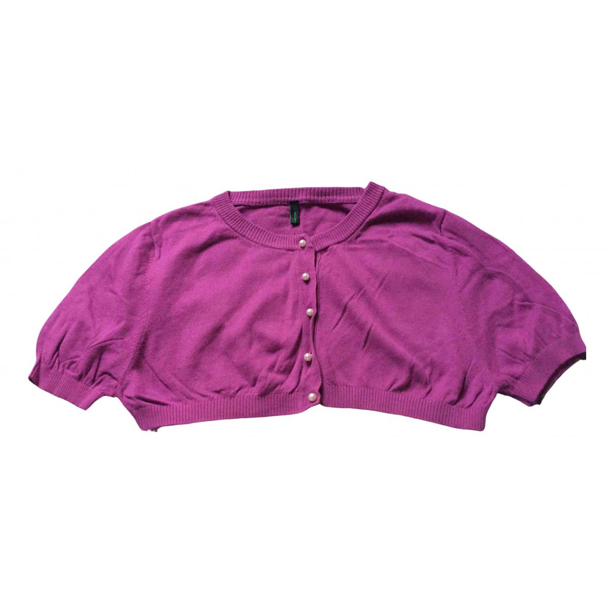 Benetton - Pull   pour enfant en coton - violet