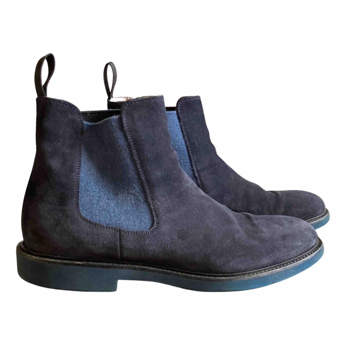 Doucals \N Stiefel in  Blau Veloursleder