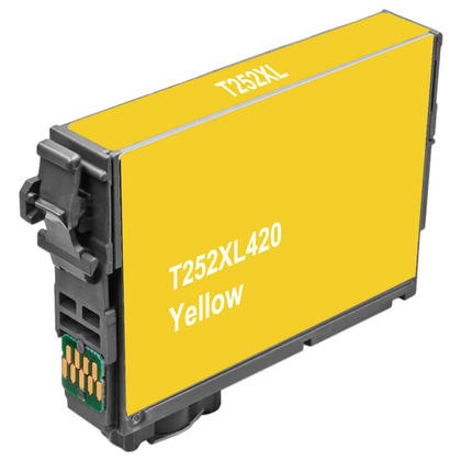 Compatible Epson 252 T252XL420 Yellow Ink Cartridge High Yield - Ecobox