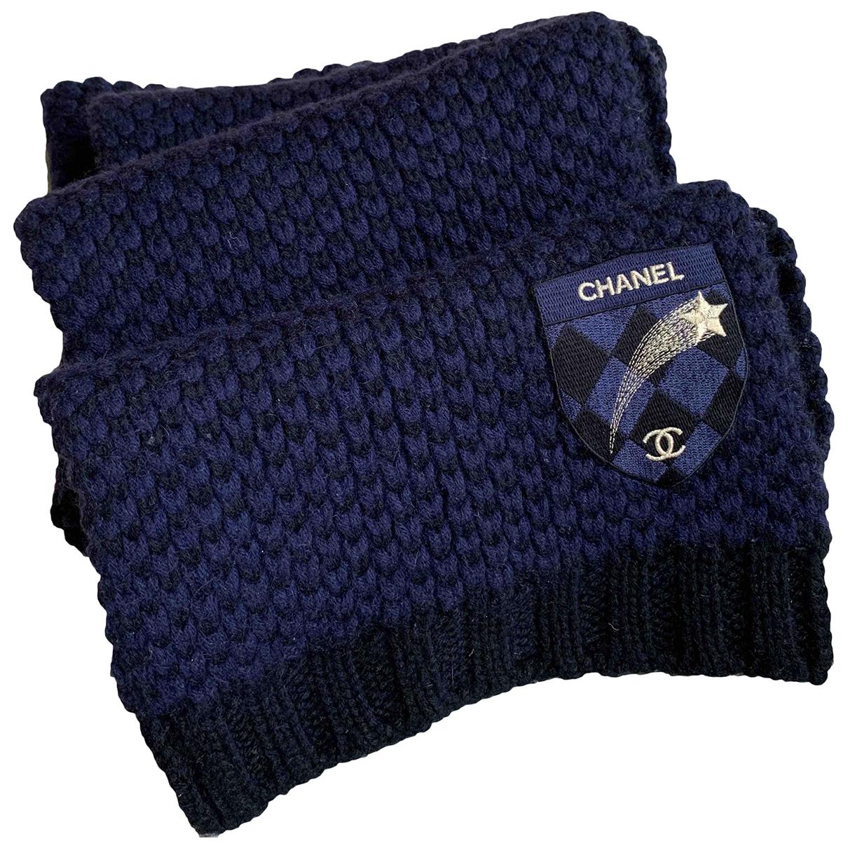 Chanel - Foulard   pour femme en cachemire - bleu