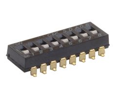 C & K 2 Way Surface Mount DIP Switch SPST, Flush, Recessed, Slide Actuator (60)