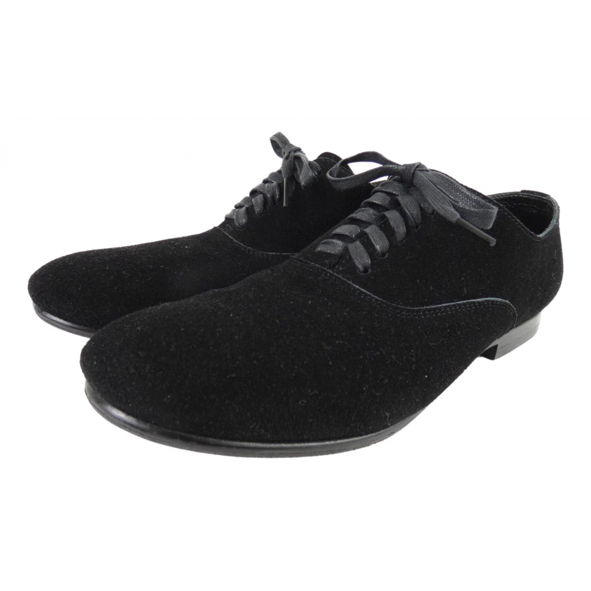 Comme Des Garcons N Black Suede Lace ups for Women 34 EU