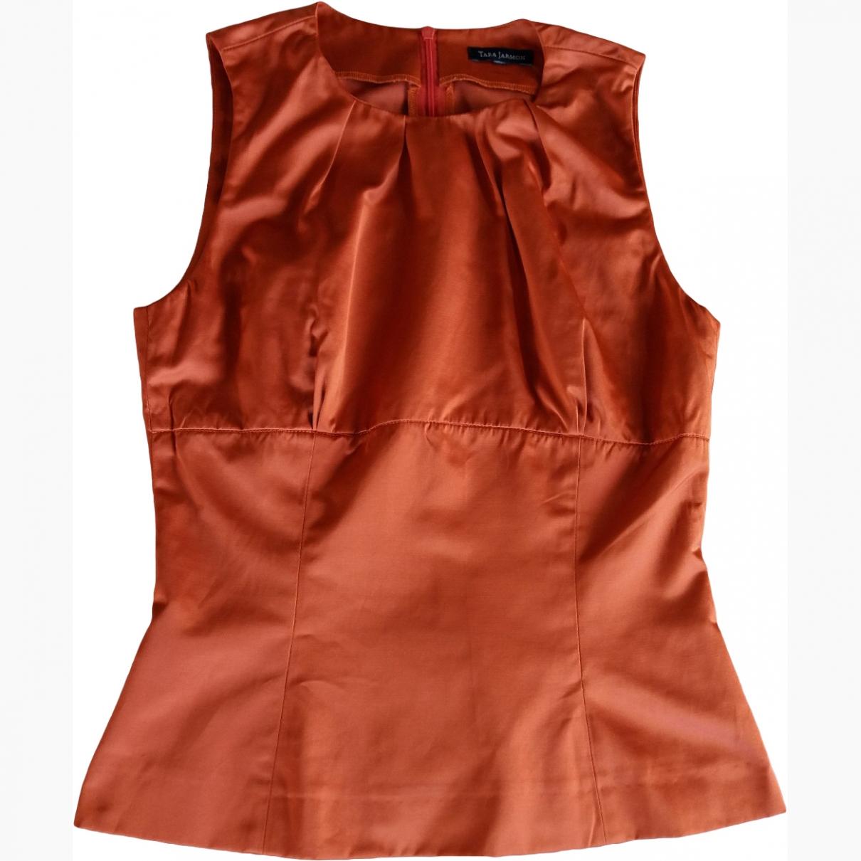 Tara Jarmon \N Orange Cotton  top for Women XS International