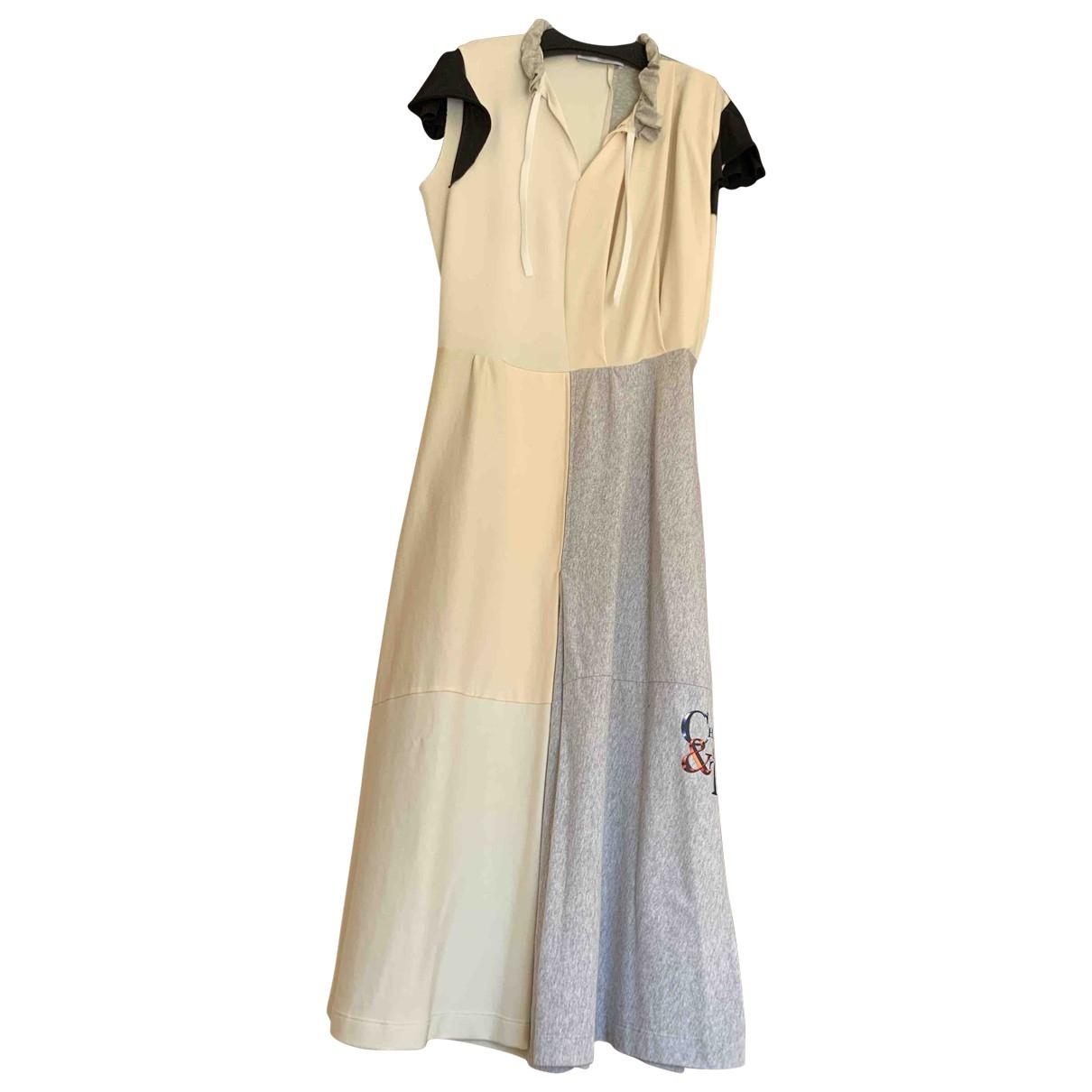 Balenciaga \N Kleid in  Beige Baumwolle