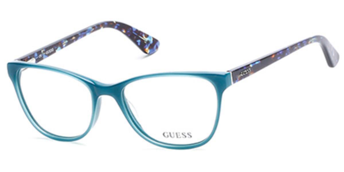 Guess GU 2547 087 Women's Glasses Blue Size 53 - Free Lenses - HSA/FSA Insurance - Blue Light Block Available