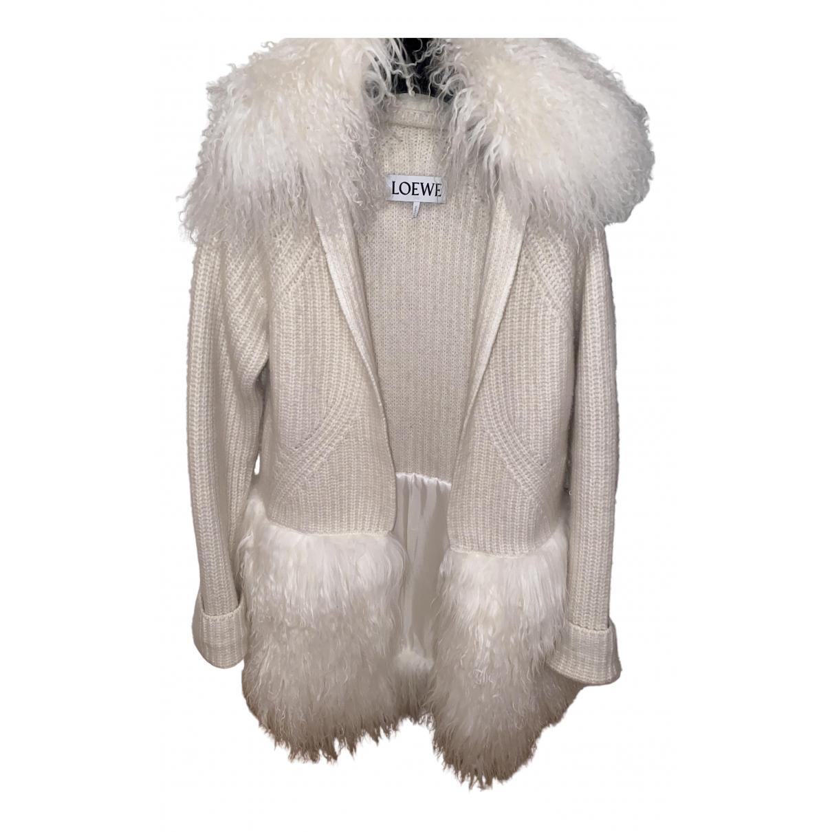 Loewe - Manteau   pour femme en agneau de mongolie - beige