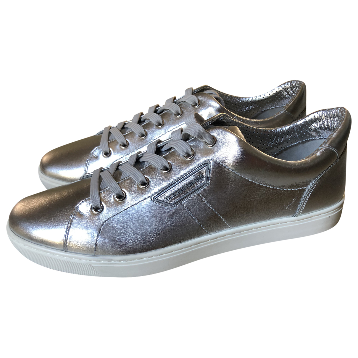 Dolce & Gabbana \N Silver Leather Trainers for Men 44 EU