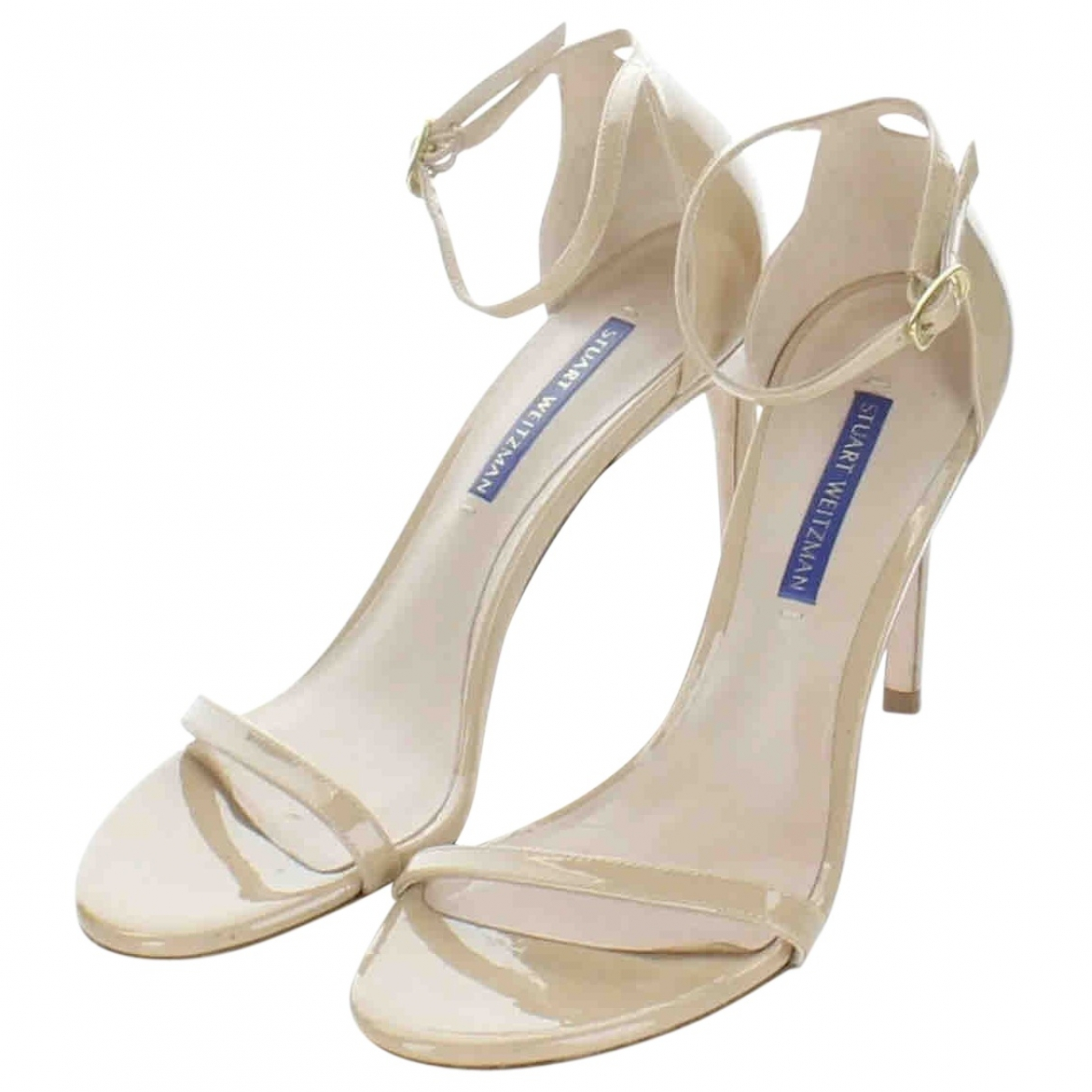 Stuart Weitzman \N Beige Patent leather Mules & Clogs for Women 6.5 US