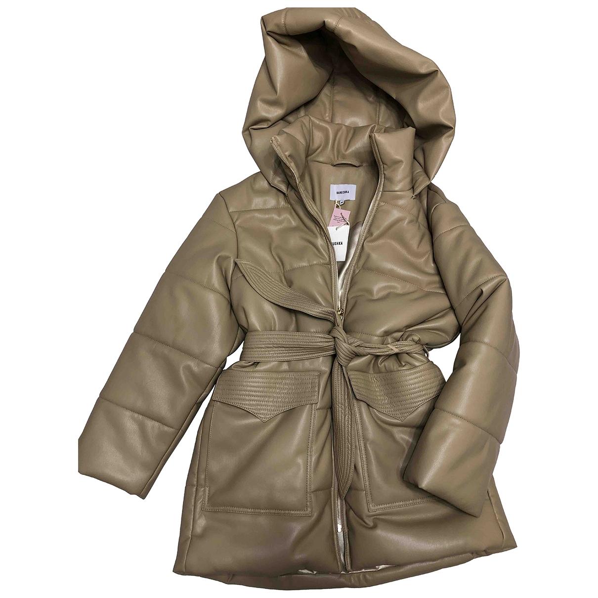 Nanushka \N Beige Leather Leather jacket for Women XS International