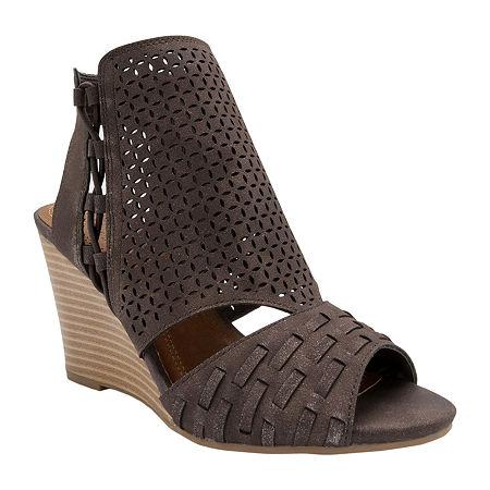 Sugar Womens Wedge Sandals, 10 Medium, Brown