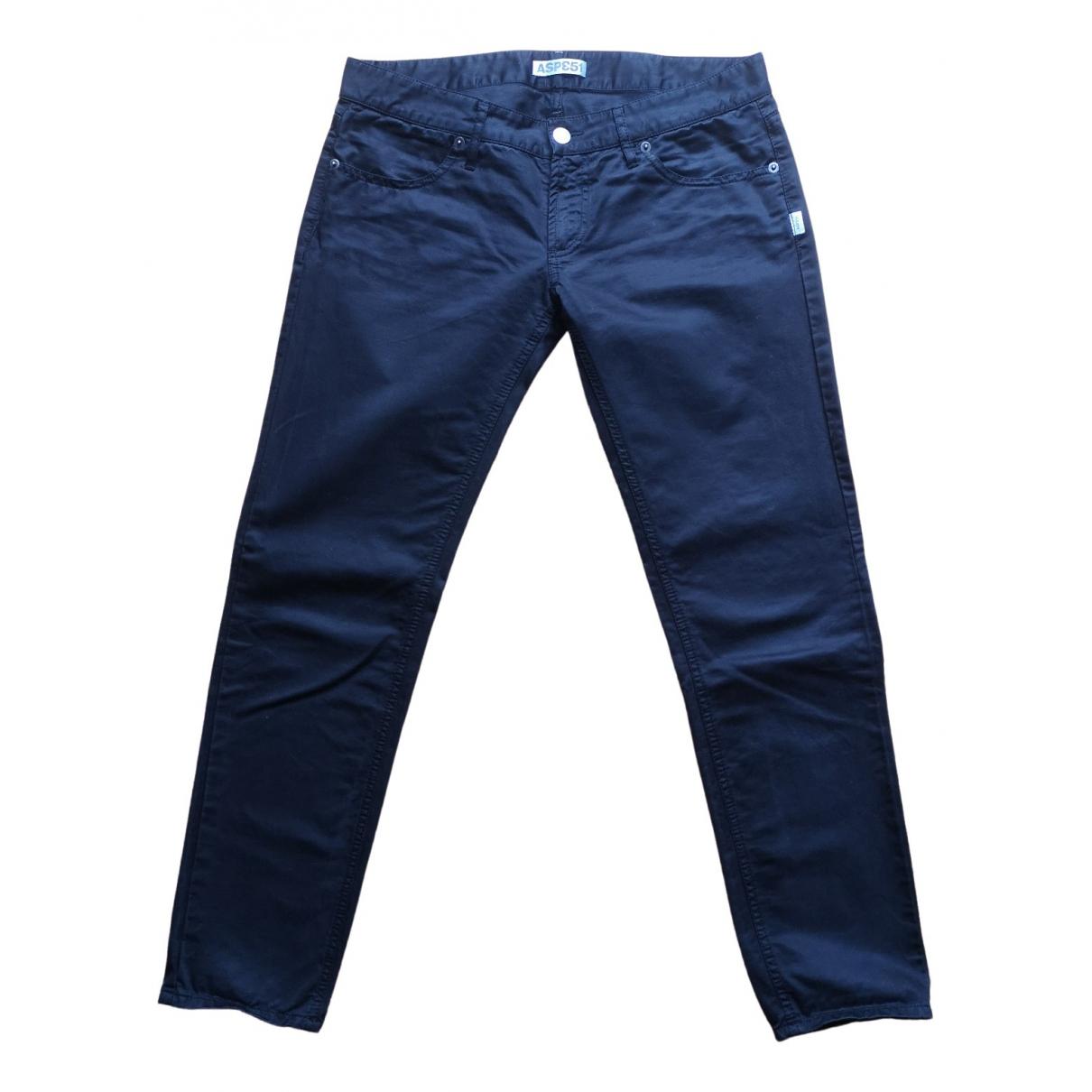 Aspesi \N Black Cotton Trousers for Women 42 IT