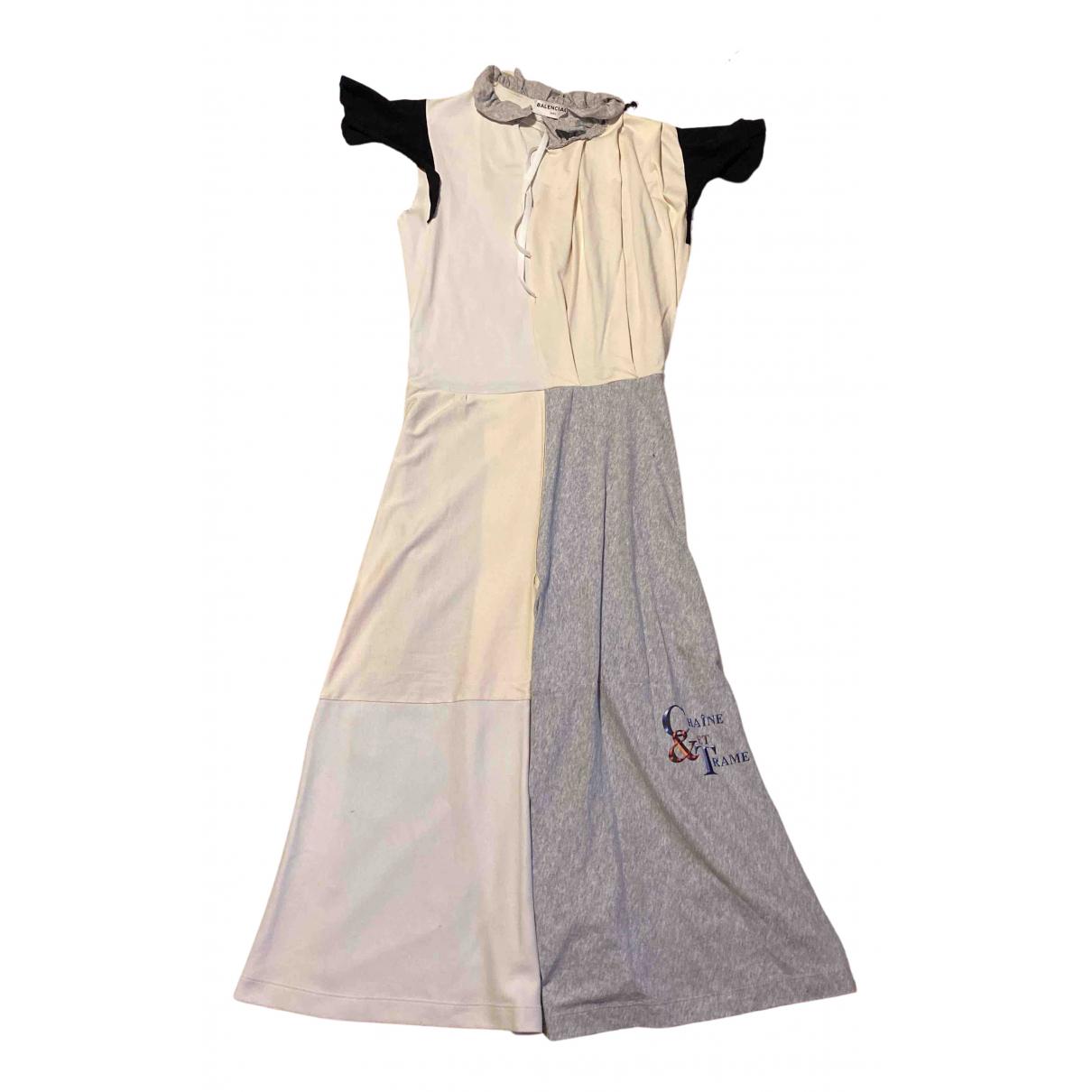 Balenciaga \N Kleid in  Grau Baumwolle