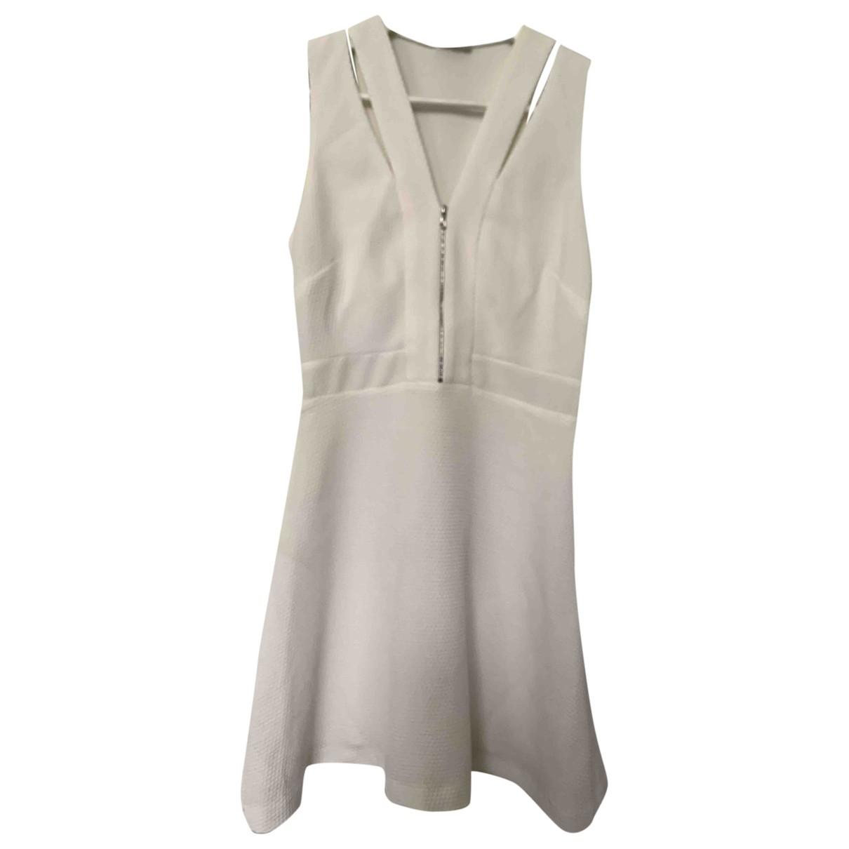 Sandro \N White Cotton - elasthane dress for Women 36 FR