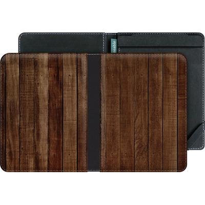 tolino vision 4 HD eBook Reader Huelle - Dark Wood Floor von caseable Designs