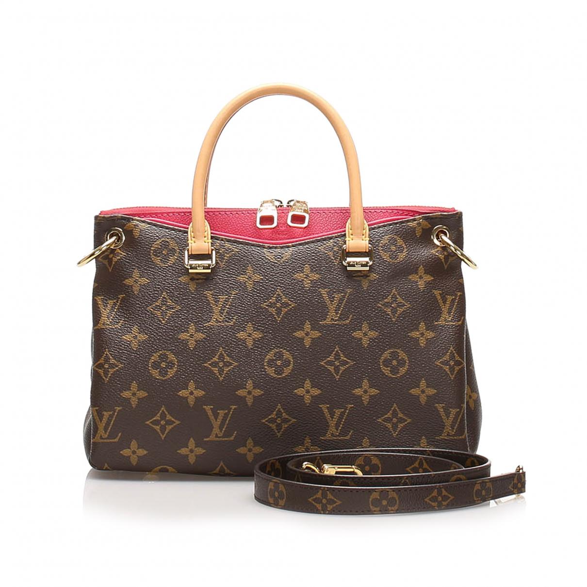 Louis Vuitton - Sac a main Pallas pour femme en toile - marron