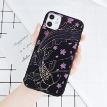 Goldfish & Floral iPhone Case