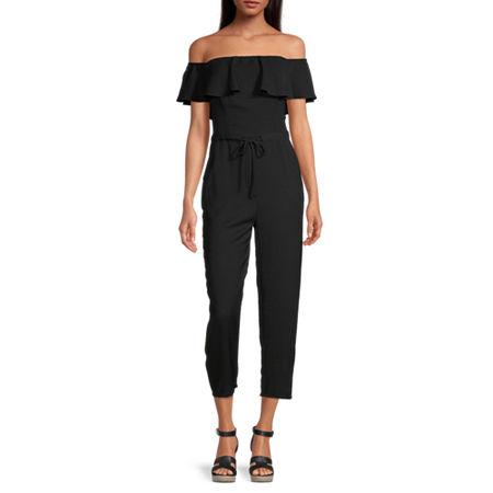 Premier Amour Short Sleeve Jumpsuit, 4 , Black