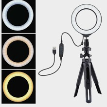 Adjustable Ring Light With Tripod Stand
