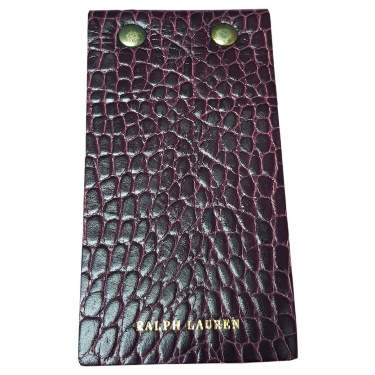 Ralph Lauren - Accessoires   pour lifestyle en cuir - bordeaux