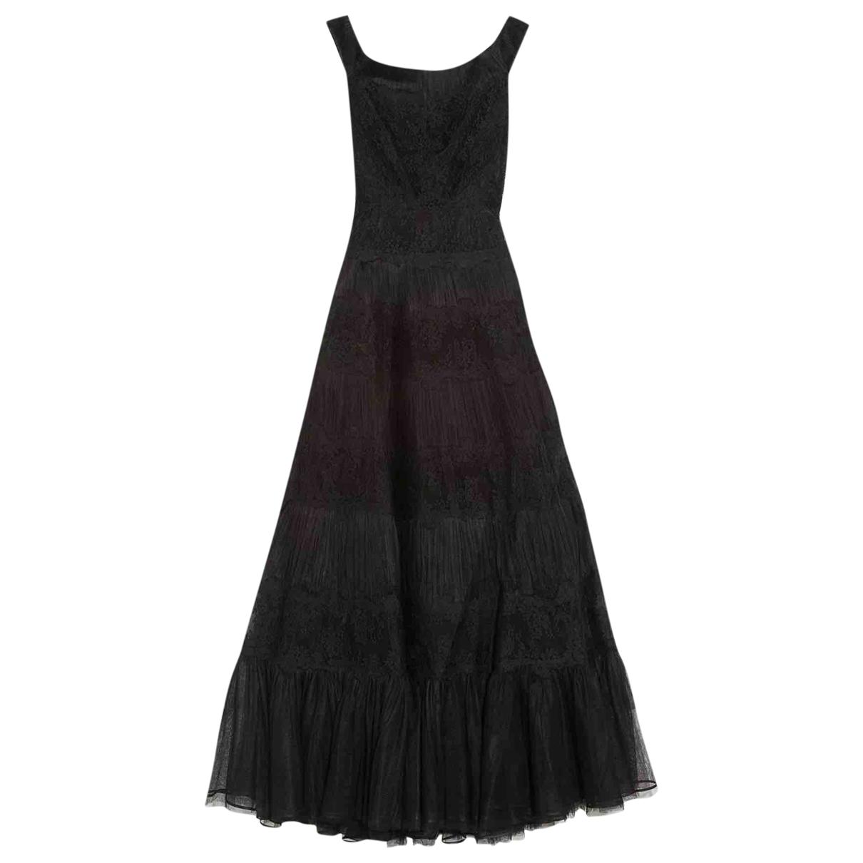 Valentino Garavani \N Black Silk dress for Women 38 IT