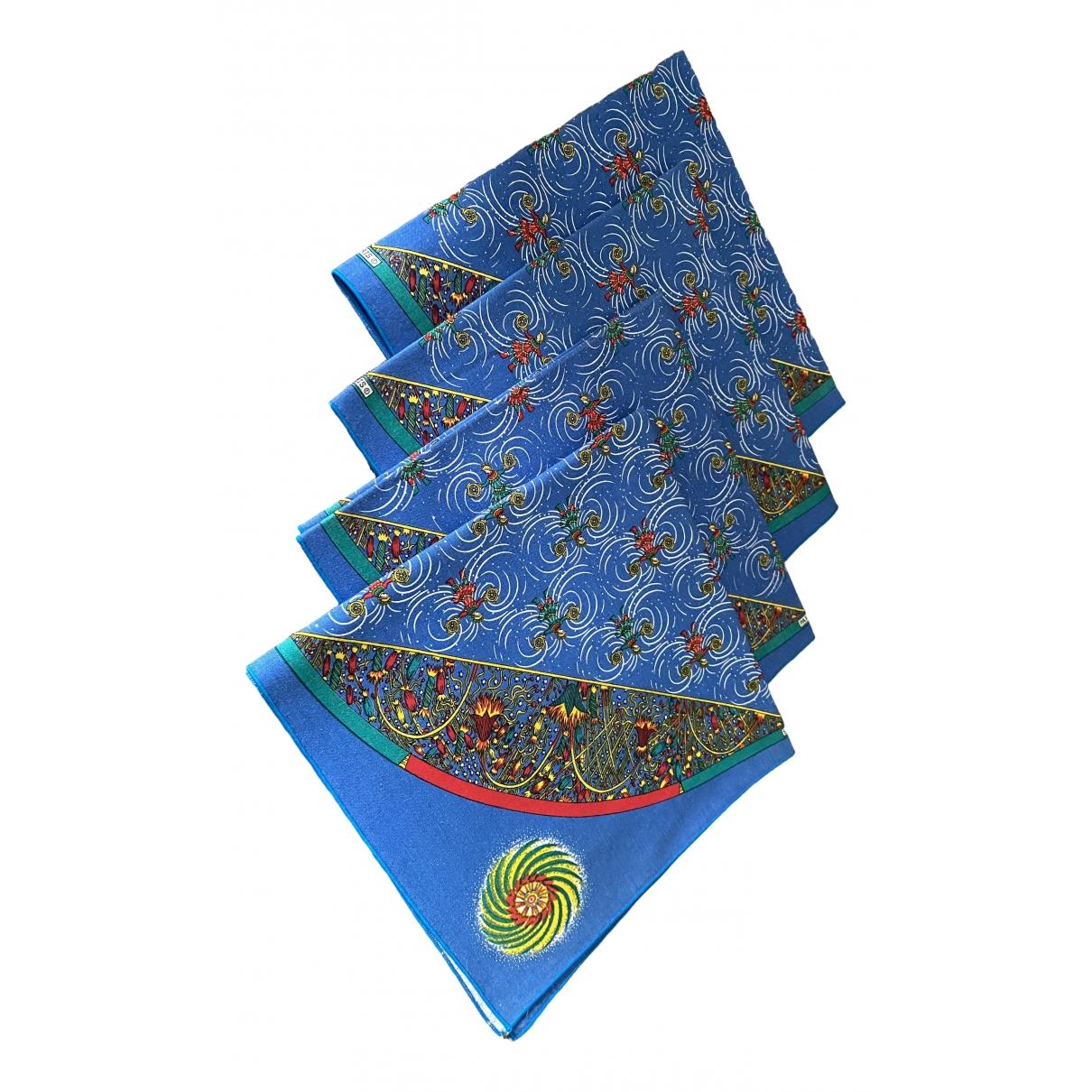 Hermes - Arts de la table   pour lifestyle en coton - bleu