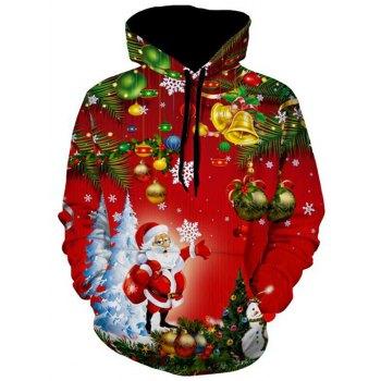 Christmas Tree Jingle Bells Santa Christmas Hoodie