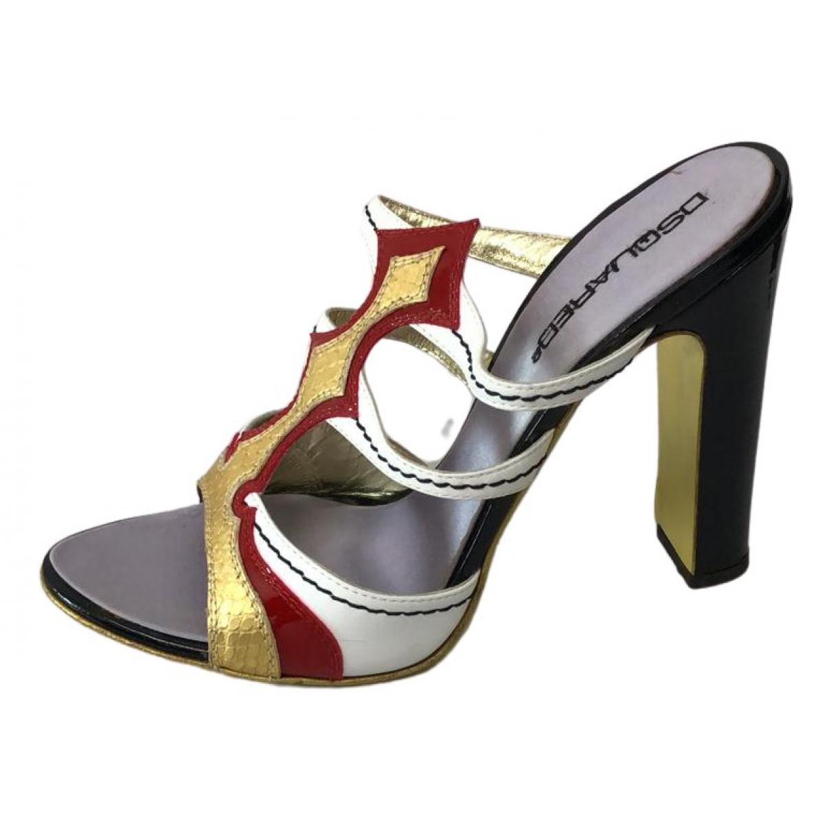 Dsquared2 - Sandales   pour femme en cuir - multicolore
