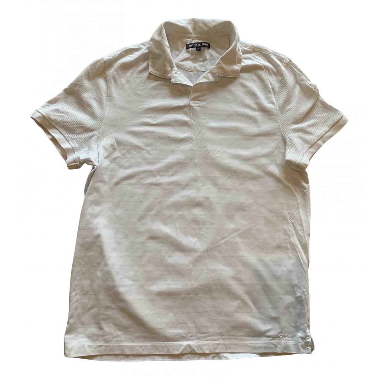 Michael Kors N White Cotton Polo shirts for Men M International