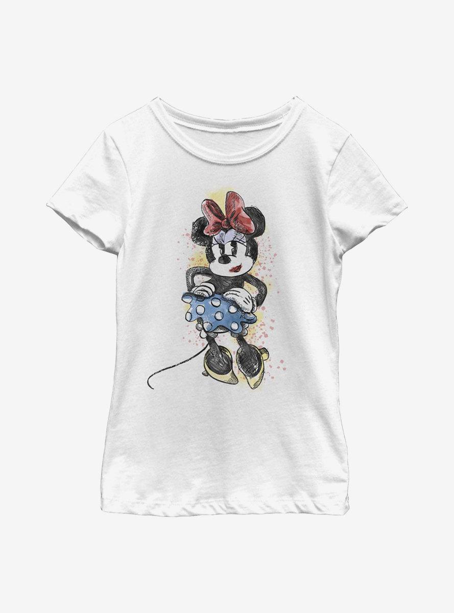 Disney Minnie Mouse Artsy Minnie Youth Girls T-Shirt