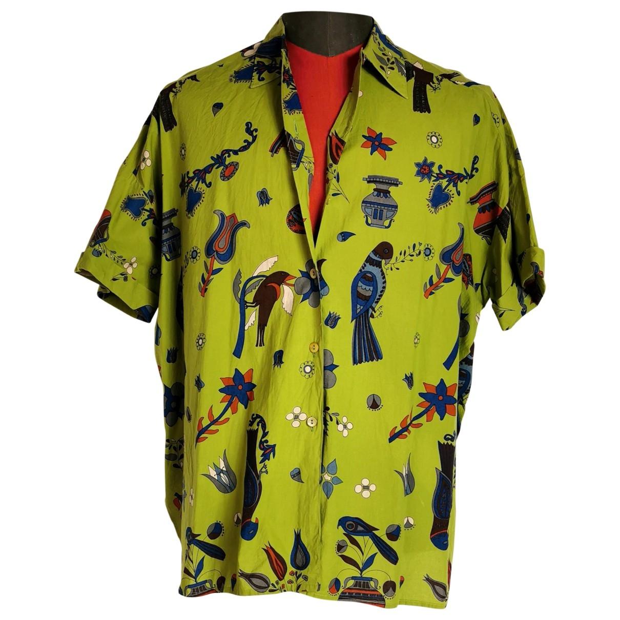 Non Signe / Unsigned Oversize Hemden in  Bunt Baumwolle