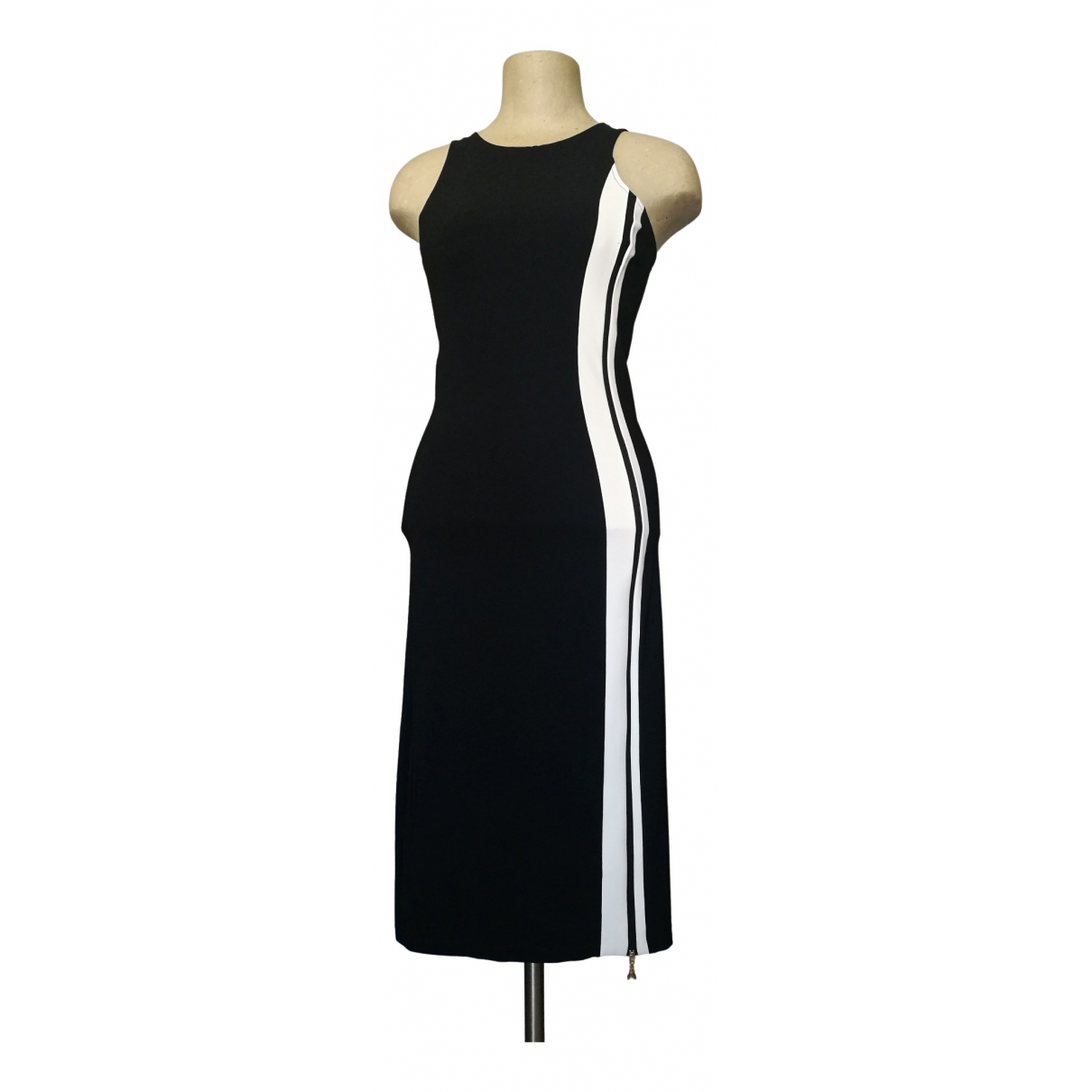 Patrizia Pepe \N Black Cotton - elasthane dress for Women 000 0-5