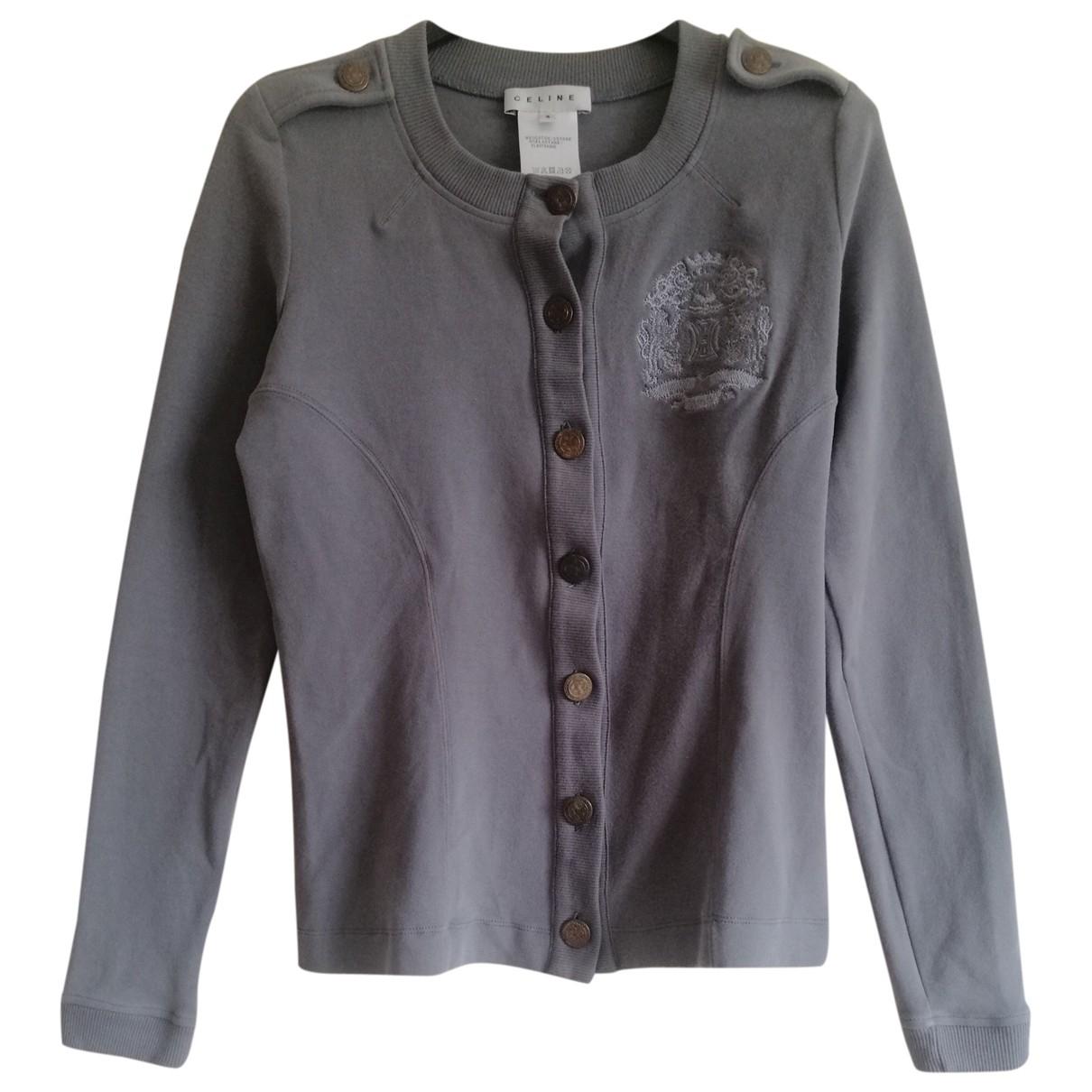 Celine - Veste   pour femme en coton - gris