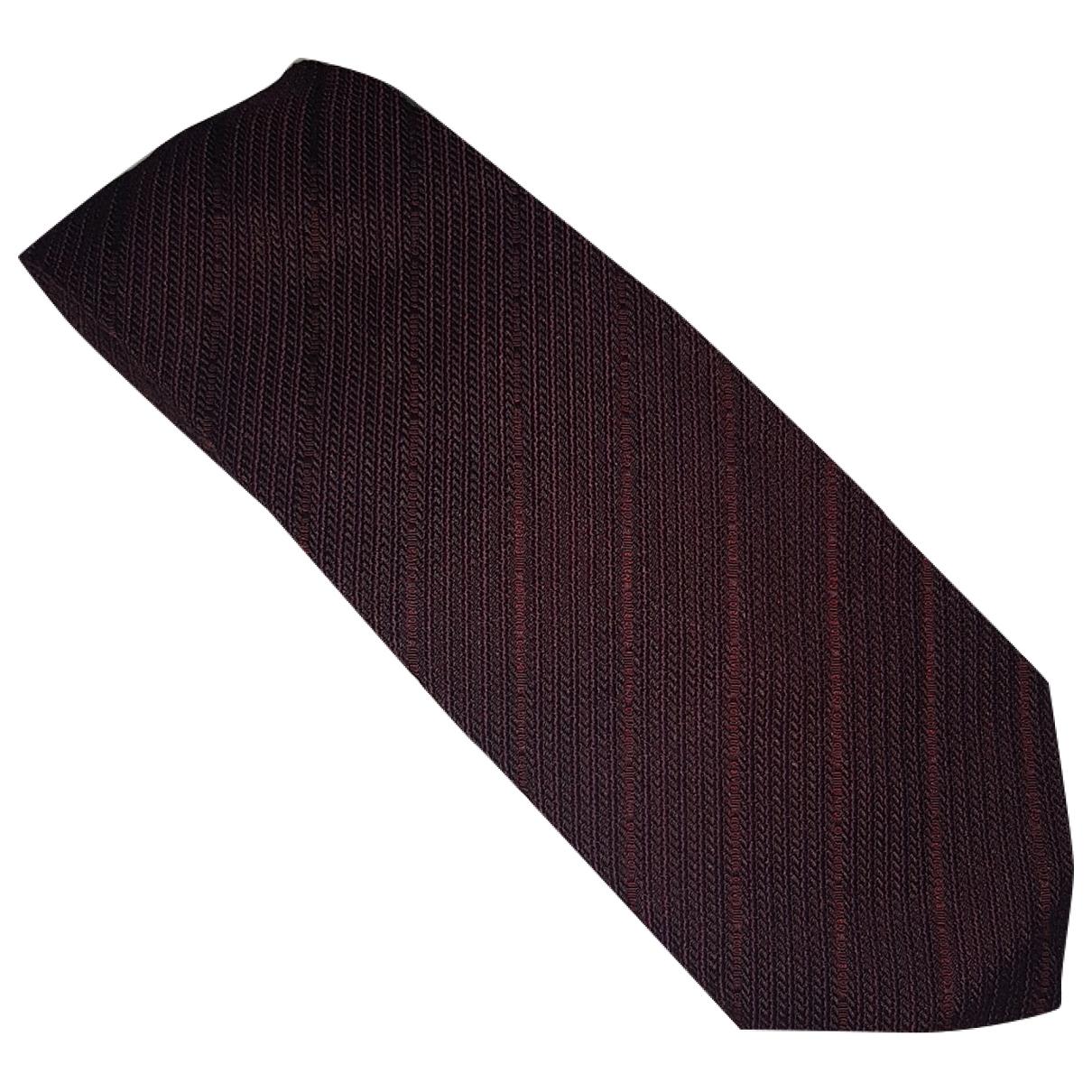 Roberto Cavalli \N Krawatten in  Bordeauxrot Seide