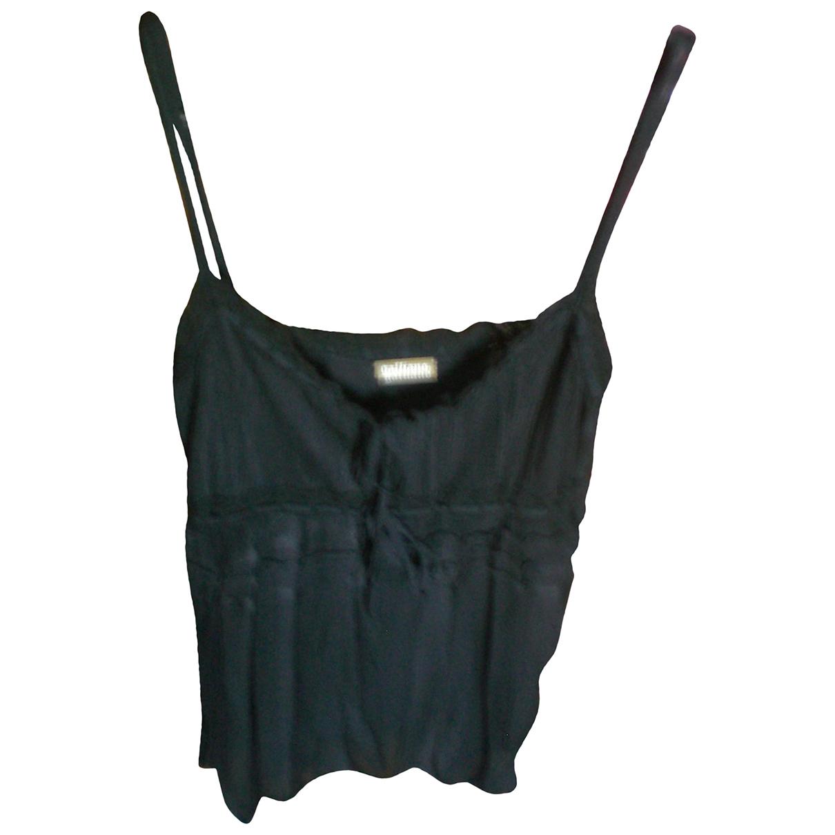 Galliano N Black  top for Women L International
