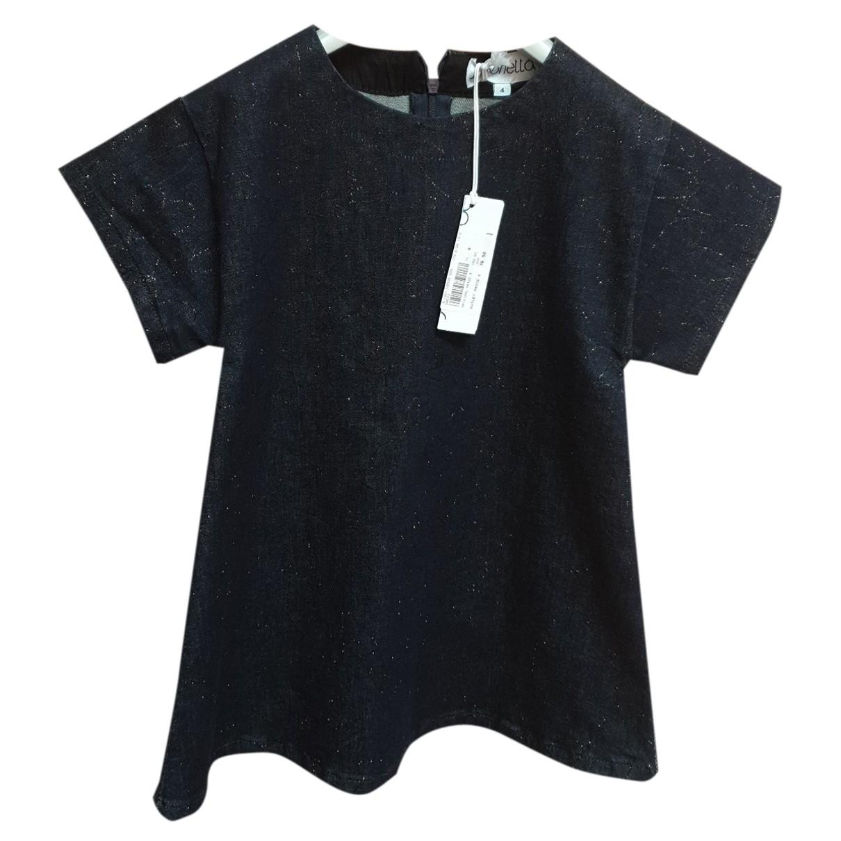 Simonetta \N Kleid in  Blau Baumwolle