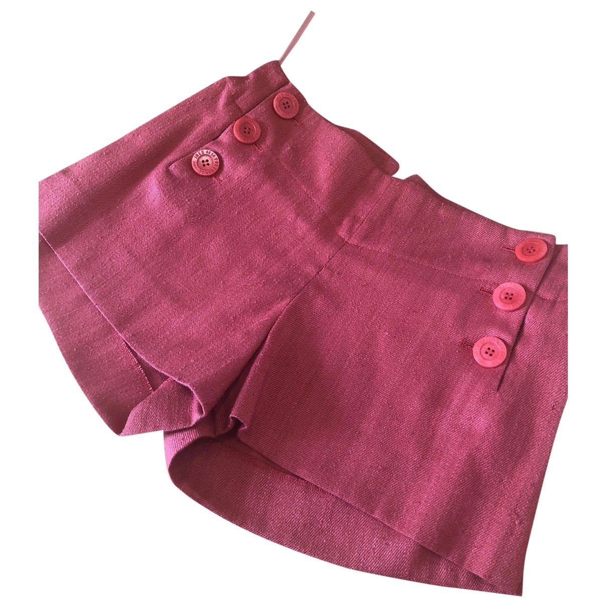 Inès De La Fressange Paris \N Orange Cotton Shorts for Women 36 FR