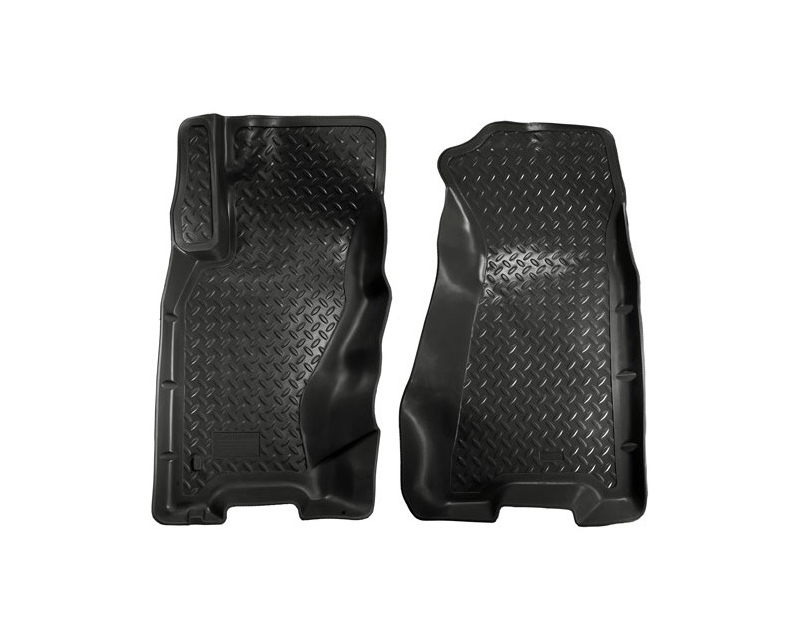 Husky Floor Liners Front 99-04 Jeep Grand Cherokee Classic Style-Black