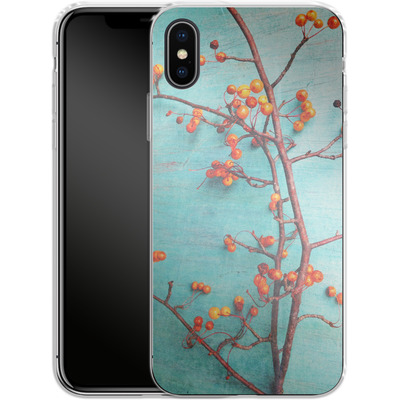 Apple iPhone X Silikon Handyhuelle - She Hung Her Dreams on Branches von Joy StClaire