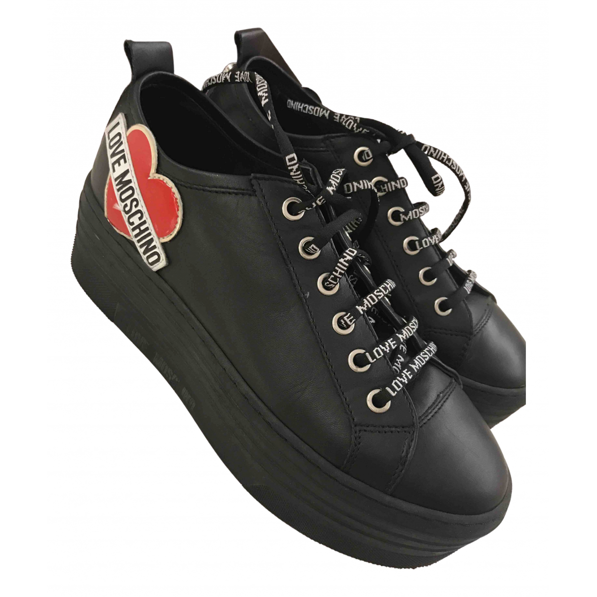 Moschino Love \N Sneakers in  Schwarz Polyester