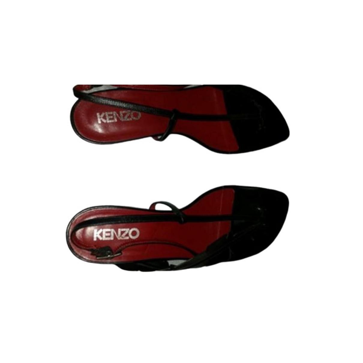 Kenzo \N Sandalen in  Schwarz Leder