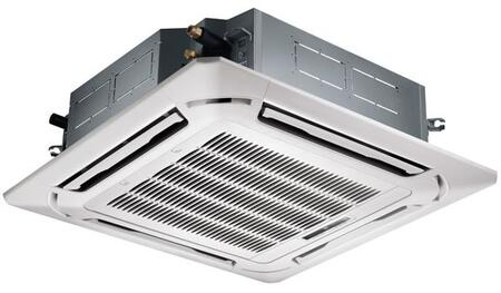 KTIR24-H2 24000 BTU Cassette Fan Coil Indoor Unit with Remote Control  3D Air Flow Technology and Dehumidification in