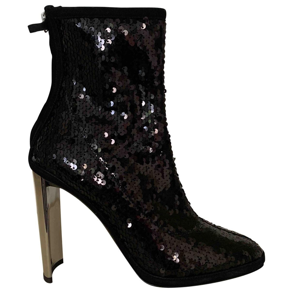 Giuseppe Zanotti - Boots   pour femme en a paillettes - noir